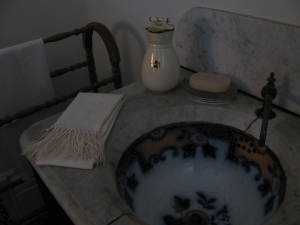 A sink at the Tallman House used water collected in a roof-top cistern. Photo by Jessica Becker