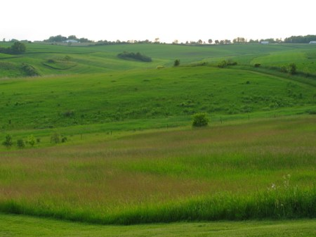 The rolling hills of southwestern Wisconsin near Folklore Village. Photo by Jessica Becker