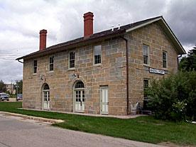 The restored Mineral Point railroad depot (Credit: Joy Gieseke)