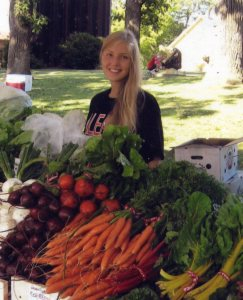 Veggie Babe (Ruth Rolfsmeyer) at the 2008 Farmers' Market