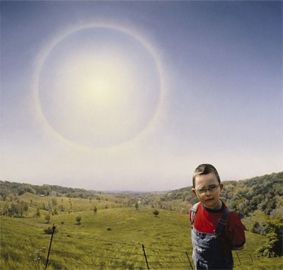 "Sam and the Perfect World, David Lenz, 44"" x 46"" Oil on linen, 2005. Photo: David Lenz."