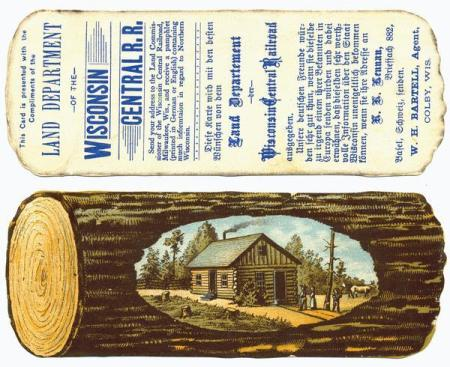 issued by the Land Department of the Wisconsin Central Railroad in order to promote the sale of railroad-owned land in northern Wisconsin.