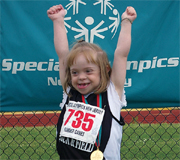 A 2009 Special Olympics champion.