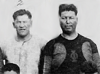 Coach Jim Thorpe and lineman Ted St. Germaine, Oorang Indians, 1922. (Ben Guthrie Collection, Lac du Flambeau).