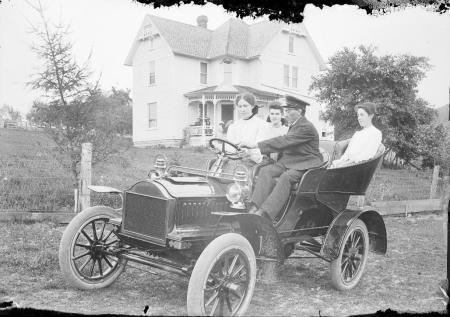 Ed Steuber gives a driving lesson near Prairie du Sac