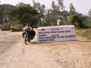 This photo of a sign in both  Malayalam and English was taken by Samia Shalabi, who leads tours in South India. Visit http://www.karazidesign.blogspot.com/ to see more.
