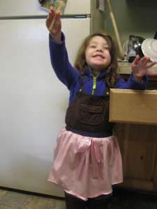 Princess Skirt over Snowsuit