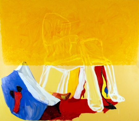 """Piss Chair"" 96 x 108 inches, Oil on Canvas 2008"
