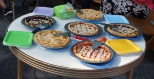 Janine Arseneau's delicious fruit pies. Photo © by Lee Matz.