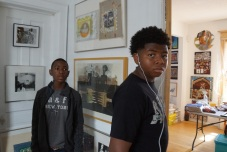 Two young visitors to terry's gallery. Photo © by Lee Matz..